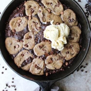 brownie skillet cookie