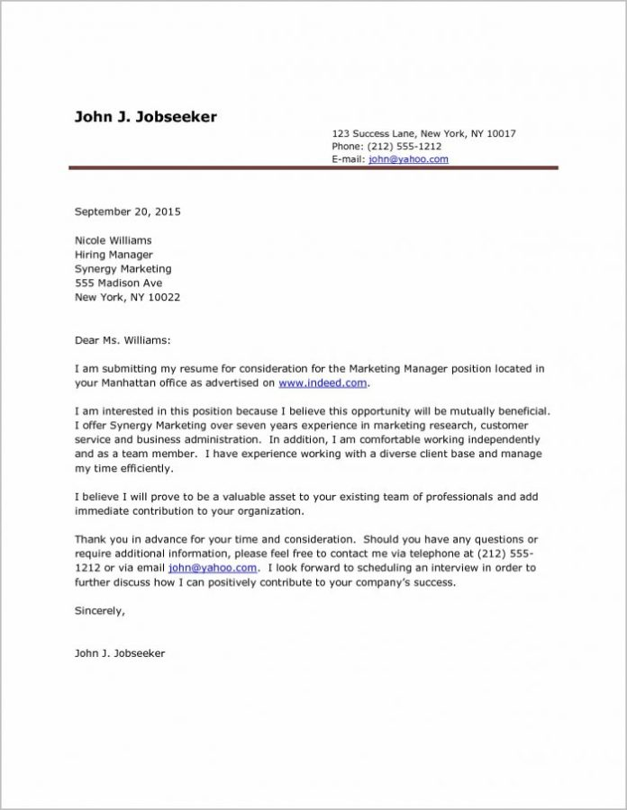 Printable Cover Letters Vorte