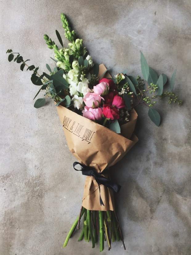 Valentine flowers from Ruby & The Wolf | These Four Walls blog
