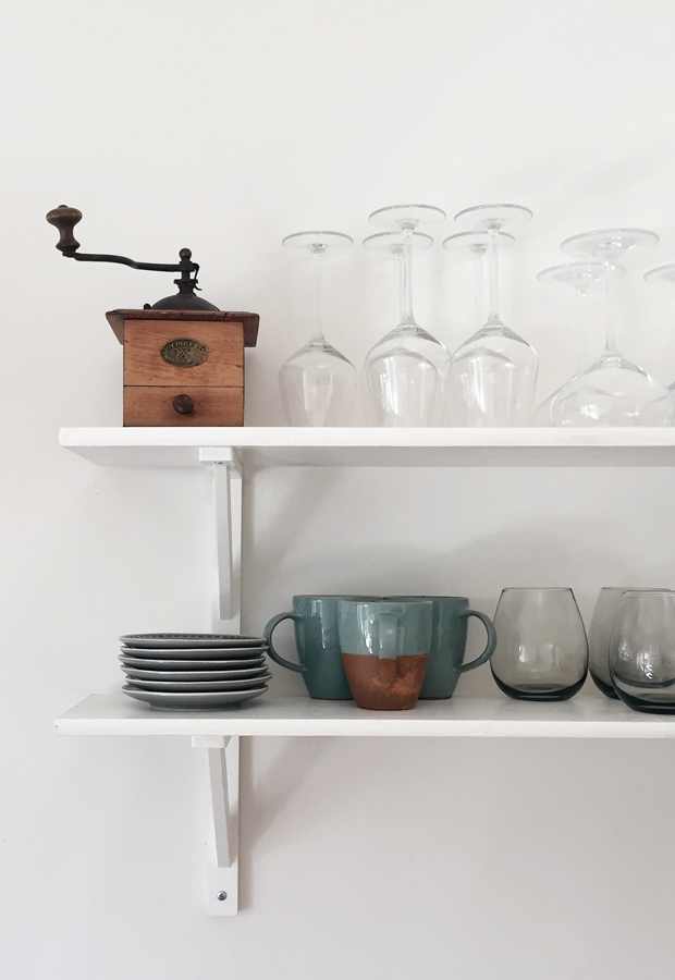 Open kitchen shelves | These Four Walls blog