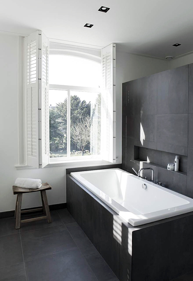 Room Envy | A smart monochrome bathroom | These Four Walls blog