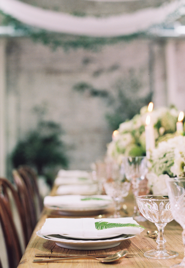 Warehouse wedding reception