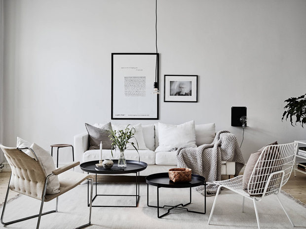 Home tour | A stylish Swedish apartment dressed for the season