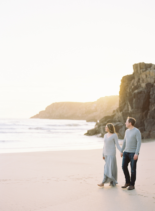 Our engagement photos on the Cornish coast | These Four Walls blog