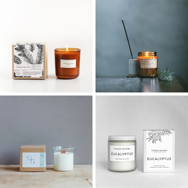 The best Christmas scented candles - fir trees and forests | These Four Walls blog