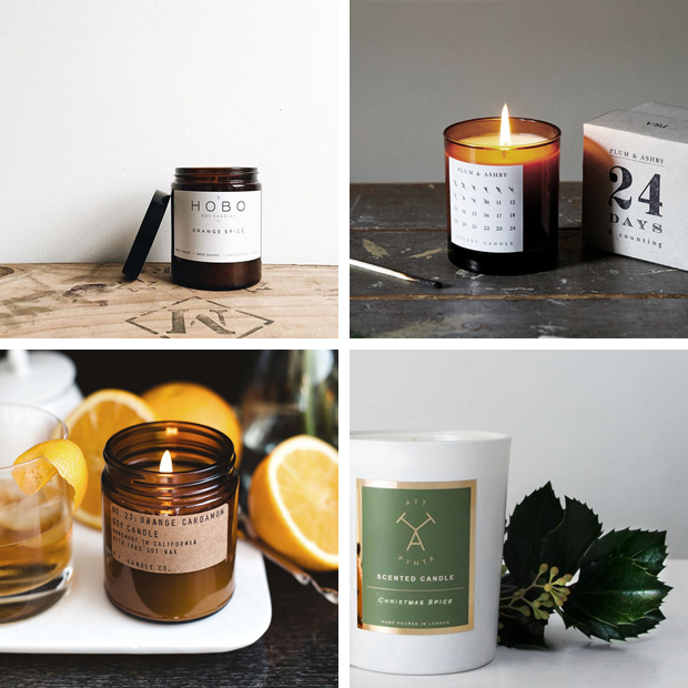 The best Christmas scented candles - oranges and spices | These Four Walls blog