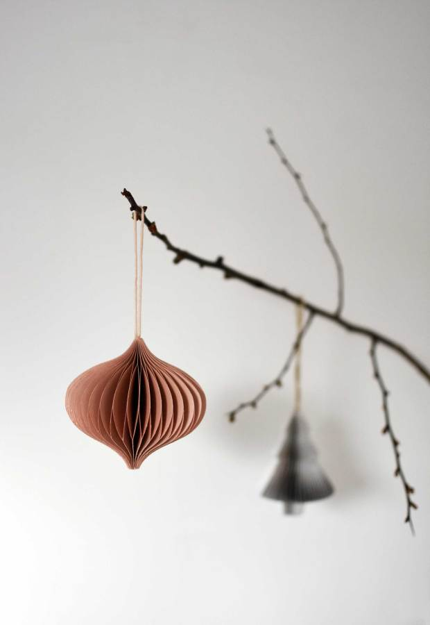 Easy Christmas styling with paper decorations | These Four Walls blog