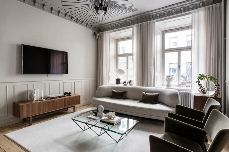Home tour - a sophisticated turn-of-the-century Stockholm apartment | These Four Walls blog