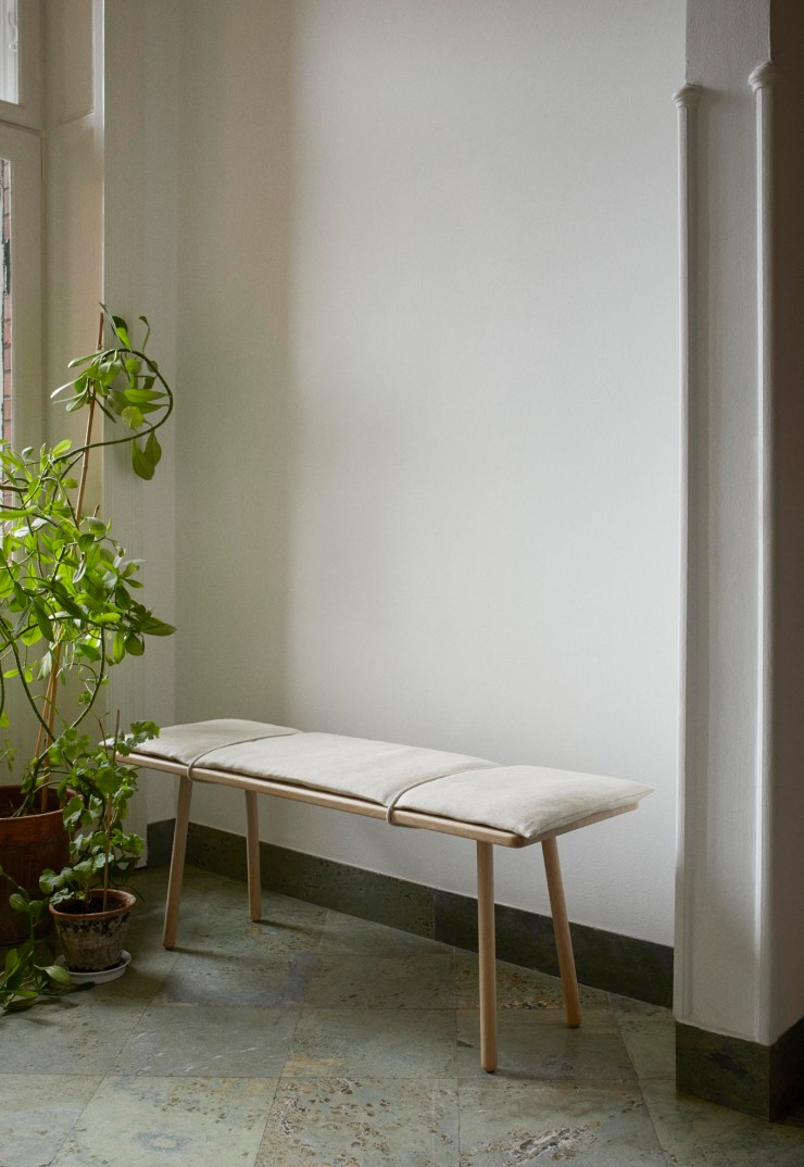 Skagerak's minimalist oak 'Georg' bench - a contemporary Scandinavian classic now available with a natural linen cushion | New finds - July 2021 | These Four Walls blog