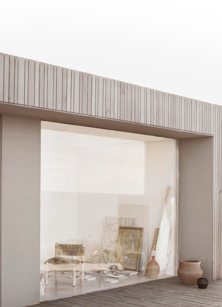 Contemporary costal house with picture windows and weathered timber cladding | Soft minimalism from Tine K Home's latest collection | These Four Walls blog