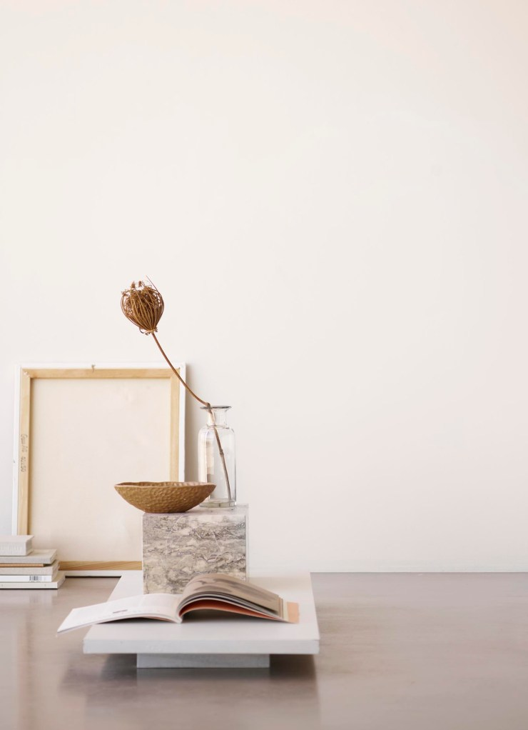 Minimalist still life in neutral earth tones from Tine K Home's latest collection | These Four Walls blog