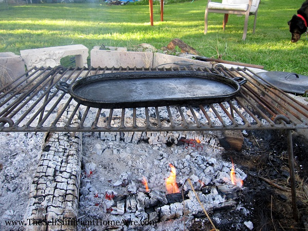Griddle over the fire