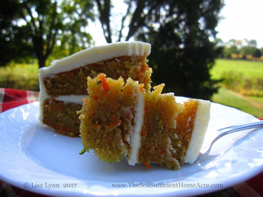 Carrot Zucchini Cake With Yogurt Recipe