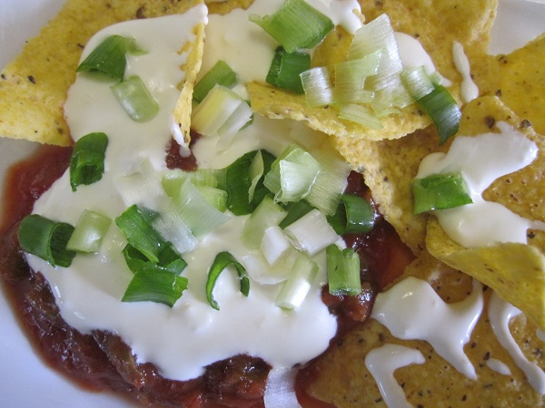 chips with homemade sour cream
