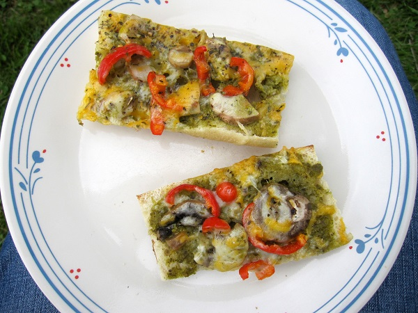 French bread pizza on a plate