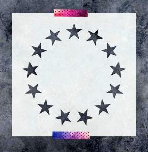 Betsy Ross Stars stencil