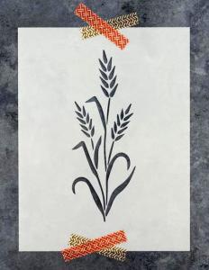 Wheat stencil