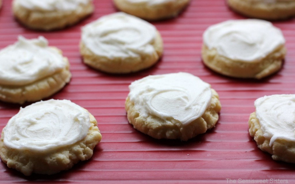 Frosted Shortbread Cookies