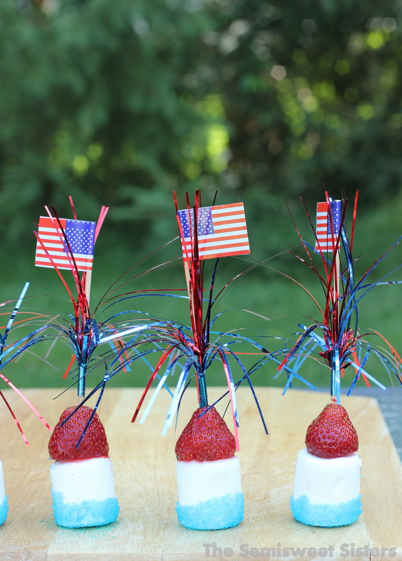 Patriotic Sticks - Strawberry Marshmallow Kabobs