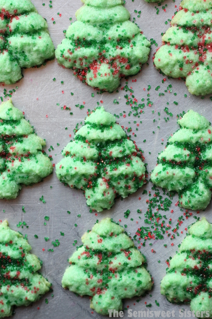 Christmas Tree Spritz Cookies