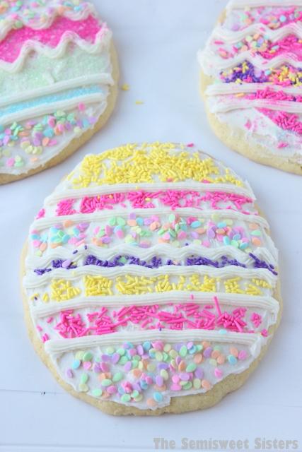 Giant Easter Egg Sugar Cookies