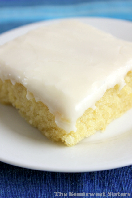 White Texas Sheet Cake Half Sheet Pan