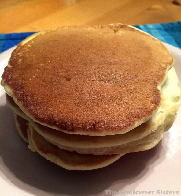 So if your dealing with a milk allergy or perhaps you've ran out of milk at your house, you can still make fluffy pancakes from scratch.