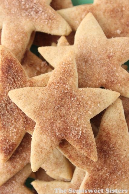 Christmas Cinnamon Star Shortbread Cookies
