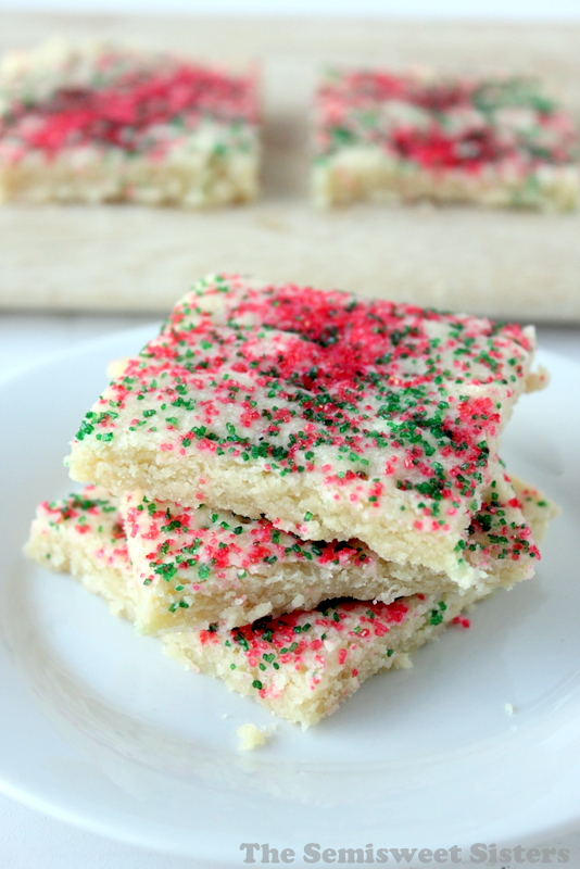 Christmas Shortbread Bars (4 Ingredients)