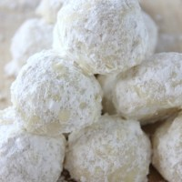 Snowball Cookies (Without Nuts)