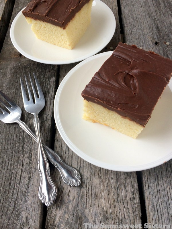 Hot Milk Cake with Fudge Frosting Recipe