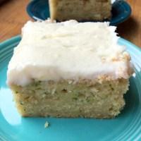 Zucchini Cake Bars with Cream Cheese Frosting