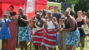 Rwandan dancers get in the groove during Montreal's Folk Festival on the Canal Photo: Irwin Block