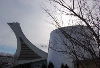The Rio Tinto Alcan Planetarium is part of the Space for Life complex near the Olympic Stadium. (Photo by Hayley Juhl)