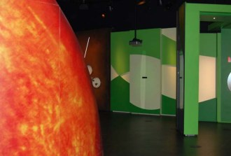 Wait -- is that Mars? Part of the permanent Exo exhibit at the Rio Tinto Alcan Planetarium. (Photo by Hayley Juhl)