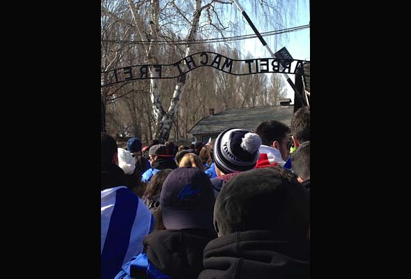 The march from Auschwitz takes an emotional toll on all participants. (Photo: Jordan Stoopler)