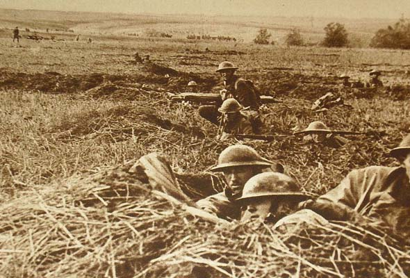 """American troops in the field during World War I"" by Moore, William E.; Russell, James C. - U.S. Official Pictures of the World War."