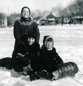 Lil, Irwin, Rona Block, Outremont 1950.