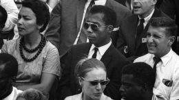 James Baldwin (center) was acclaimed for his insights on humanity