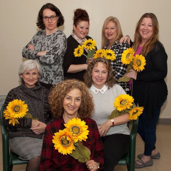 Top Row (L to R): Joyce Chabot (Marie), Christina Filippidis (Ruth), Karen Walker (Celia), Christine McCaffrey (Cora); Bottom Row (L to R): Sylvia Mauri (Jessie), Diane Roseman (Chris), Charyl Hyndman (Annie)