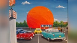 Artist Andy Habib Captures the Spirit of the Famous Landmark in an Acrylic-on- canvas Painting