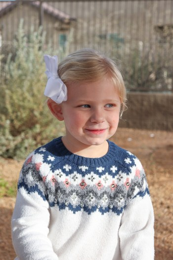 The cutest kids winter sweater