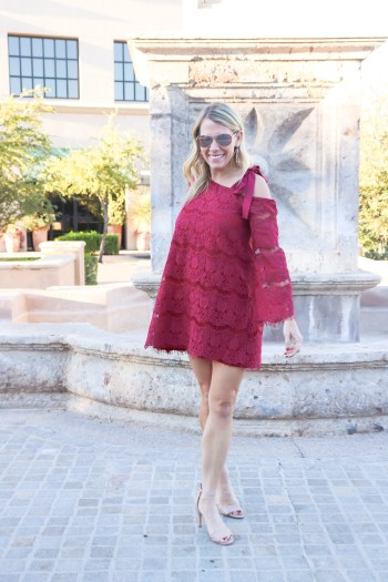 I seriously need this red lace dress