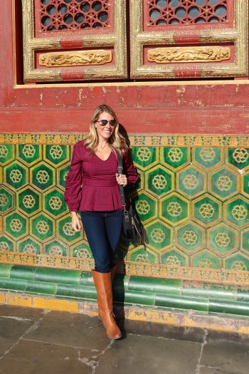 The colors in the Forbidden City were amazing