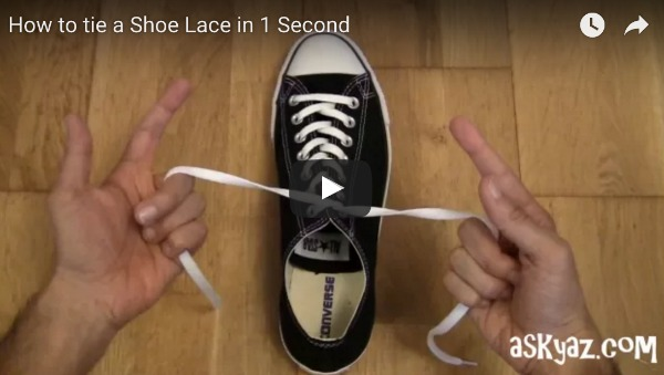 Tie a shoe in 1 second