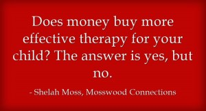 Does money buy better therapy?