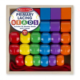 Melissa & Doug Primary Lacing Beads (Fine Motor Toys)