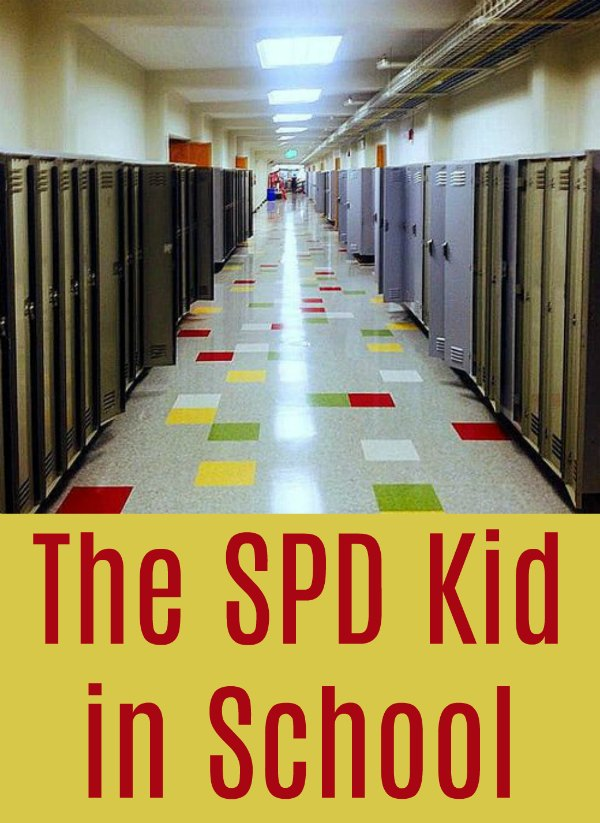 How does SPD affect a child's behavior in school?