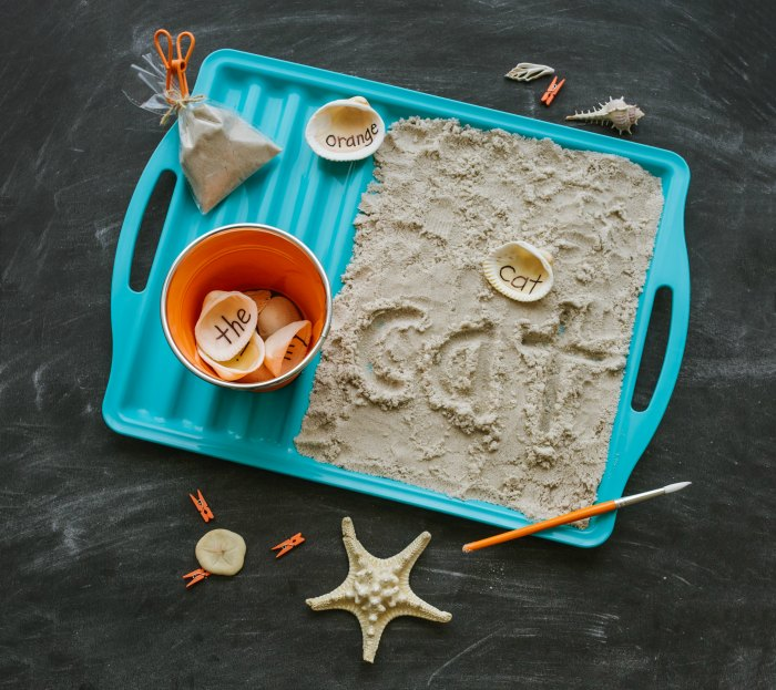 Words in the Sand Learning and Sensory Activity