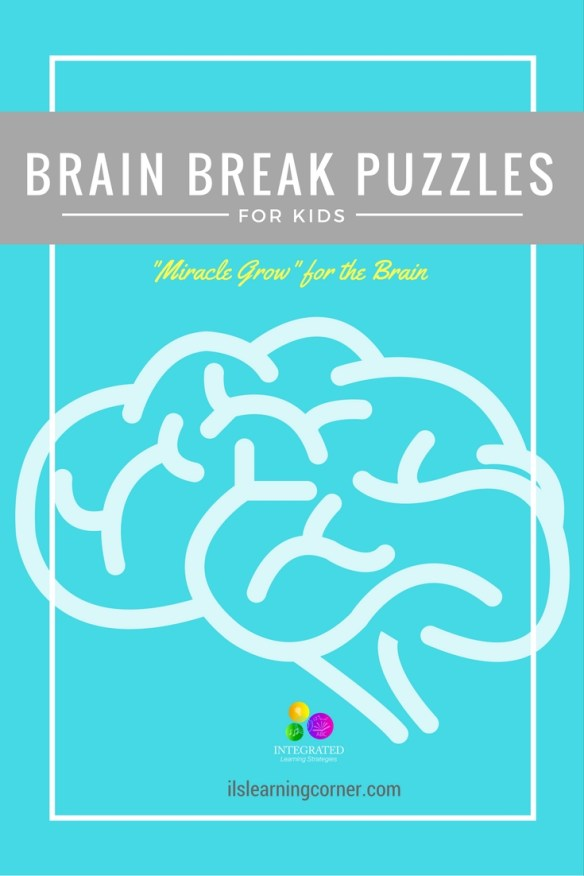 Brain Break Puzzles... a great resource for children to take a break from their activities, do something physical and also train their brain.